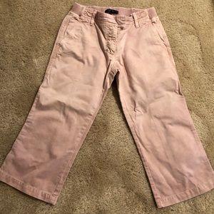 Pink designer Capri pants